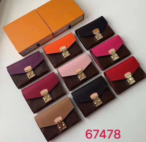 sort en cuir classique couleur court porte-monnaie dame sacs d'embrayage design de luxe sacs à main de femmes porte-monnaie de carte de crédit multi-cartes vieux portefeuille de fleurs
