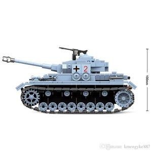 716 шт. военный танк немецкий No. 4 танк строительные блоки Fit Legoing техника город WW2 солдат полиции армия кирпичи детские игрушки подарок