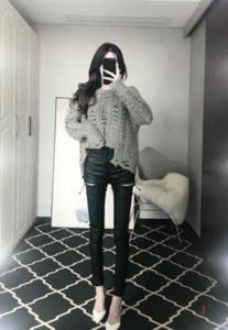2020 Весенняя мода женские дизайнерские брюки сексуальные стройнее ноги кожаные брюки молния плотно Высокая Талия карандаш брюки платье PH+ZY20040307