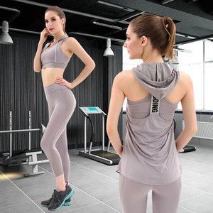 El más reciente de la yoga ropa deportiva de las mujeres a crear al Gimnasio, Ropa Running Tenis camisa + pantalones de yoga pantalones de jogging tamaño del juego de entrenamiento del deporte M-L