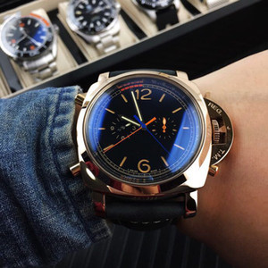 Luxury mens watch round dial 41mm crystal watch sapphire mirror Rubber strapl watchband free shipping