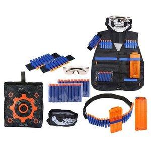 Hiking Vests 28 pcs Ultimate Tactical-Vest Holster Belt Wristbands Refill Darts Kit for Nerf-Guns N-Strike Elite Series