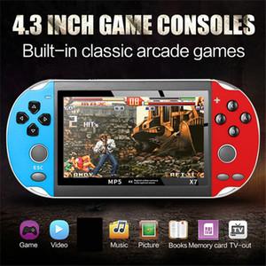 4,3 дюйма для GBA Handheld Game Console X7 Видео игры игрока 300 Free Retro Games ЖК-дисплей игрока игры для детей