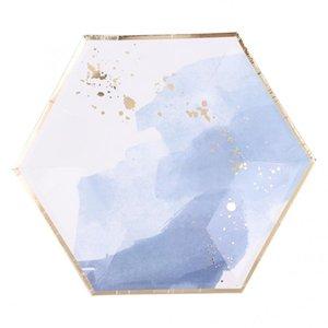 Set de bricolage à usage unique Vaisselle papier Assiette Coupes Vaisselle Set pour serviettes de table de mariage Décor jetable Vaisselle