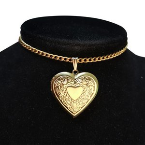 Cross Heart Shaped Friend Photo Picture Frame Locket Pendant Choker Necklace Romantic Fashion Jewelry Gift Dropshipping