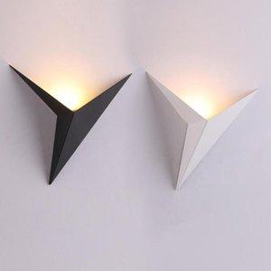 Lámpara de pared LED moderna nórdica Luminaria pared del hierro cubierta de aluminio ligero de iluminación interior Inicio Sala de estar Porche calienta la lámpara blanca