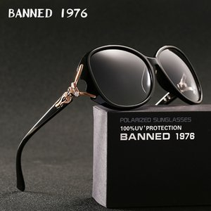 BANNED 1976 luxury women polarized fashion Sunglasses new lady's uv protection feminin cool sun Glasses vintage gafas de sol MX200527