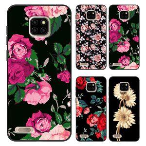 TPU copertura del fiore Foglie cassa del telefono per Ulefone P6000 Più Armatura X3 7 Note7 Coque