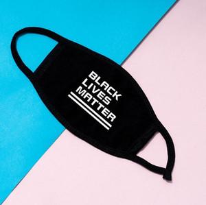 In magazzino progettista della maschera di protezione I Cant Breathe nero Abita Matter maschere Fashion Mask Designer per adulti DHL FY9131