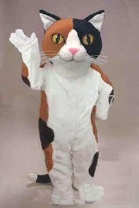 2019 de fábrica caliente del calicó de la mascota del gato de la historieta del traje del carácter del tamaño adulto del partido del tema Carnaval Cosply Mascotte traje del vestido de lujo Traje FIT