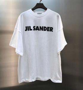 Мужчины женщины Jil sander футболка с коротким рукавом классические мужчины высокое качество темперамент одежда тройник размер S-XL Белый