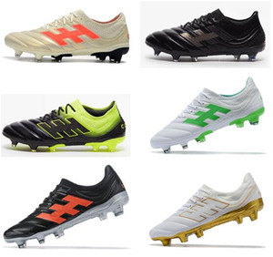 2019 Big Discount Mens Champagne solaire Copa 19,1 FG Football Crampons Chaussures du monde de football Coupe Copa Mundial Neymar Chaussures de football