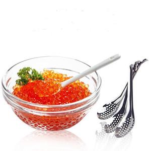 Al por mayor de acero inoxidable del envío del caviar Tamiz Molecular Cuchara mixologista barra ranurada Cuchara Sferificación cucharas gratuito