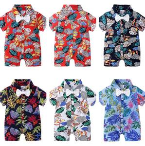 Crianças roupas meninos macacãozinho Floral imprimir Infantil infantil Macacão bebê do verão Pijama Roupa CZ526 estilo havaiano