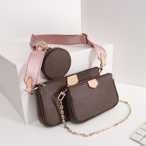 Nueva mejor calidad de múltiples accesorios de diseño Pochette Bolsas bolsas de las mujeres Las últimas mujeres de la llegada empaqueta con la caja de modelo M44813 M44840