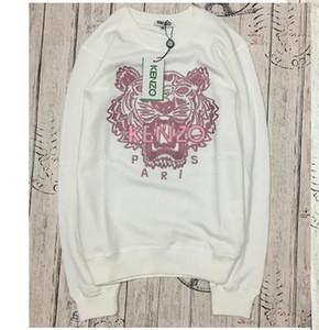 2020high marca de calidad KEVZO París bordado suéter suéter de algodón puro tigre O-Cuello Terry Sweatershirt origina S-XXL