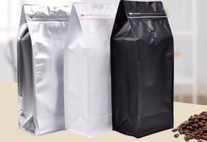 500pcs / lot Coffee Bean Bag 1 KG Hacim Coffee Bean Kılıfı ile One Way Vana Packaging Gıda Saklama Poşetleri 3 Renk