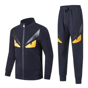 Nova Moda Mens Designer de Treino Outono Casual Masculino Marca Sportswear de Alta Qualidade Suits Ternos de Manga Longa