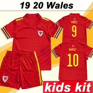 2019 JAMES ALLEN RAMSEY Kits Kit Home Soccer Jerseys European Cup Wales National Team Бейл Уилсон детские футбольные майки Jersi Pêl-droed