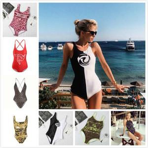 traje de baño bikini traje de baño de las mujeres de natación de una sola pieza trajes de baño 2020 de natación de moda estilo sexy al aire libre vacaciones en la playa