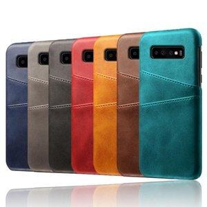 Funda de cuero premium para Samsung galaxy S10 lite S10 S10 plus Slim Funda protectora para iPhone XS 7 plus con ranura para tarjeta