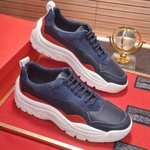 Erkek Ayakkabı Günlük Moda Açık Platformu Footwears Zapatos de hombre Yuvarlak Burun Gumboy Dana derisi Sneaker VL665 hommes L dökmek