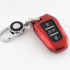 ABS Shell Car Key Case For 208 308 408 508 2008 3008 4008 5008 DS3 DS5 DS6 For C4 C5 X7 Smart Remote Key Cover