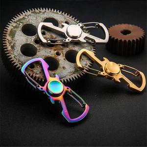 Spiner Fidget Spinner Mão chave cadeia cadeia Dedo de giro Bearing Top EDC metal Cube brinquedos para as crianças Crianças Handspinner