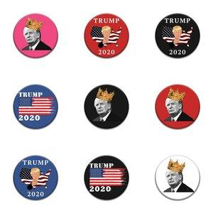 10 PC 1 Tronco Parches Bordados para el hierro Parche Ropa para el paño Costura de adornos accesorios etiquetas Trump insignia en la ropa de hierro en P # 16