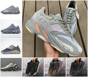 2020 NOVO inércia 700 onda dos homens do corredor mulheres designer tênis novo hospital azuis 700 sapatos de desporto V2 ímã Tephra melhor qualidade Kanye West