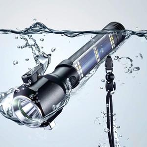 USB Güneş Taşınabilir Işık ile Lamba Torch Araç Acil Ekipmanları Mini Güneş Işığı Emniyet Çekiç Fener Çok fonksiyonlu