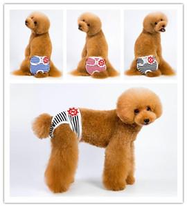 5 Tamaño perro femenino pañal reutilizable lavable de algodón para mascotas pañal ajustable Pant Física Sanitaria bragas agradables anti acoso pantalones al por mayor