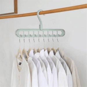 9-furo economia de espaço do gancho multi-funções 360 rotativa cabide mágica dobrar cabide armário de secagem de armazenamento de roupas roupas mágica
