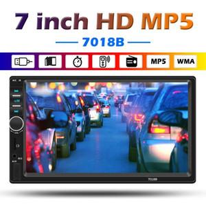 Os mais recentes 7018B Duplo 2 DIN Bluetooth Car Stereo MP5 Player 7 polegadas de tela AUX USB TF de rádio FM Chefe Unidade Digital Media Receiver dvd carro
