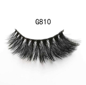 3D Mink Eyelashes Eye 100% Cruelty free Lashes Handmade makeup Mink G800 False lashes Soft Natural Thick 5 pairs DHL Free concealer