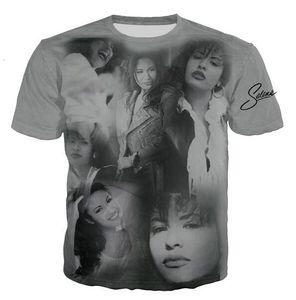 Mais recente Mens Moda / Womans selena quintanilla siger Verão Estilo Tees 3D Imprimir Casual Tops T-shirt mais BB085 Tamanho
