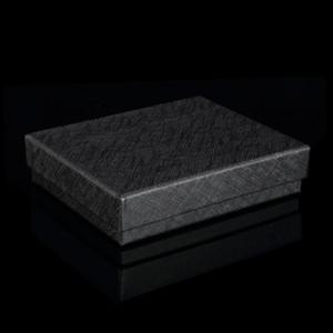 Черный цвет жесткого картон Wallet коробок с крышкой бумагой подарочной упаковкой коробкой для шелкового шарфа Короткого бумажника ювелирных изделий