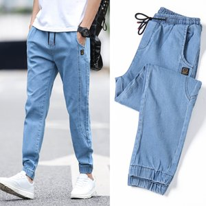 2020 Men's Casual Jeans Pants Autumn Denim Cotton Vintage Wash Hip Hop Work Trousers Jeans Pants streetwear mens ripped