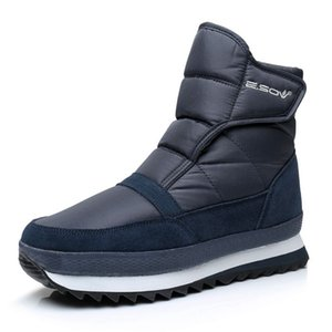 Winter thick ankle boots waterproof non-slip plus velvet snow boots warm thick-soled cotton shoes outdoor low-cut comfortable men