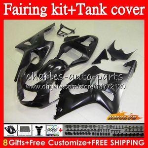 Bodys + Tank für Suzuki GSX R1000 GSXR 1000 2000 2001 2002 86HC.79 GSX-R1000 K2 GSXR1000 Black Flat GSXR-1000 00 01 02 Verkleidungsset zum Verkauf