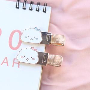Domikee bonito kawaii escola escritório de design porta caneta de metal coreano nuvens de jornal diário suprimentos cadernos de papelaria
