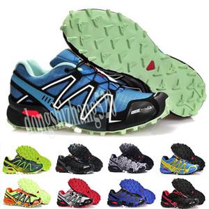 Salomon Speed Cross 3 4 2019 Shoes zapatos hombre velocidade Cruz 3CS III Esporte Sneakers Homens Pretos ao ar livre atlético SpeedCross Solomon tênis de corrida D52