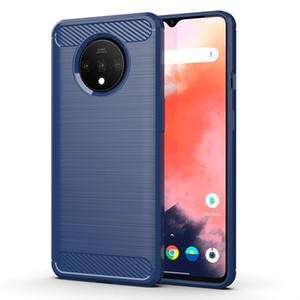 Мода Carbon Fiber Силиконовые телефон чехол для One Plus 7T Soft противоударный защитная задняя крышка для OnePlus 7 T Coque Capa