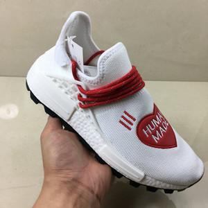 Pharrell Humano Tênis De Corrida À Venda Solar Hu Glide Vermelho Azul Dos Homens Das Mulheres Branco Sneaker 36-45