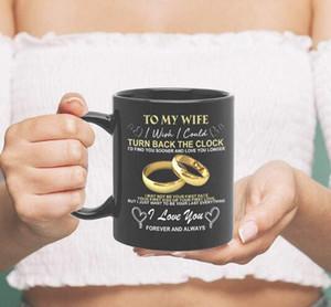 DHL 11oZ To My Husband Christmas presents gifts Birthday Fathe day nd Valentine gifts wedding anniversary gift water tea Coffee Mug 9.5*8cm