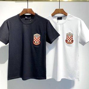 t shirt uomo Men's brand striped T-shirt FOG Washed Loose T Shirts for Men High Street Vintage Blackgray Tees Fashion Solid Tshirts