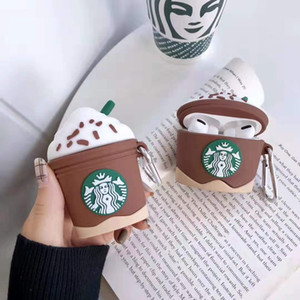 Per AirPods Pro caso 3d Starbucks Coppa in silicone protettiva per Apple AirPods Pro Charging Box Cover