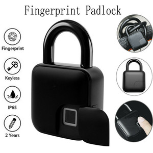 Keyless Fingerprint cadeado Porta IP65 Waterproof USB Carga do cadeado biométrico de bloqueio