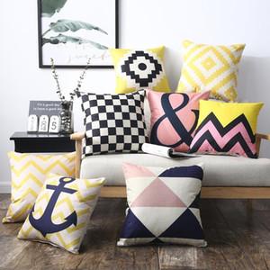 Pillow Case Cushion sofa cushion bed headrest car waist pillow linen 40X40cm 45X45cm 50X50cm 55*55cm