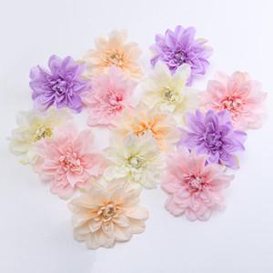 15 CM 100 unids 5 Colores de Seda Artificial Dahlia cabezas de flores para DIY boda arco de la pared decoración fiesta en casa decoración